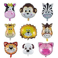 Vordas 9 Stück Tiere, Luftballons