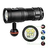 TrustFire DF30 Tauchlampe/Taschenlampe für Kamera, 100 m, Unterwasser-Taschenlampe, 2350 Lumen,...