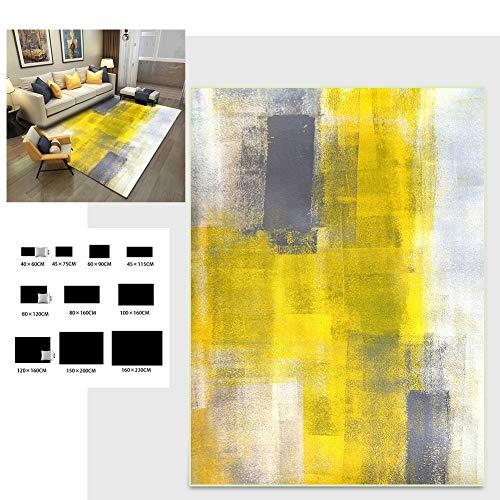 LANDENG Alfombra Acuarela Abstracta Diseño patrón