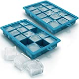 Best Ice Cube Trays With Covers - iGadgitz Home Silicone Ice Cube Tray 15 Square Review