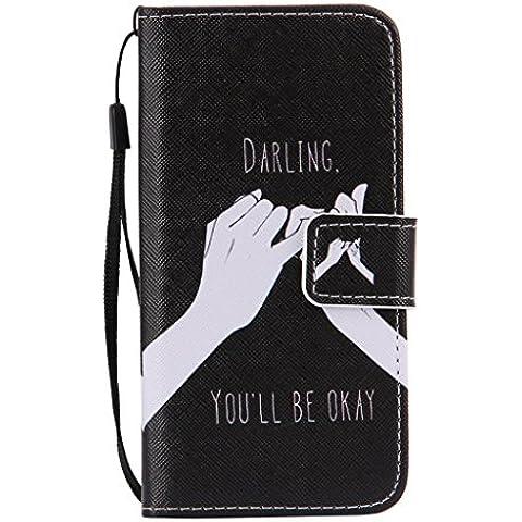 SZYT Handyhülle Handy-Smartphone Hülle Tasche für Apple iPhone 6/6s, 4.7 zoll, PU leder Flip Cover mit Handle, lustige sprüche Promise Darling You'll be
