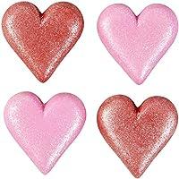 Food Items DECORACIONES DE ICING SPRKLG HRT, Corazón brillante, talla única