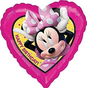 """anagram balón de papel de aluminio estándar 17""""""""-42cm Corazón Birthday Minnie Happy helpers, Multicolor, 7a3623101"""