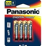 Panasonic Digital Power AAA Alkaline Batteries - 8 Pack