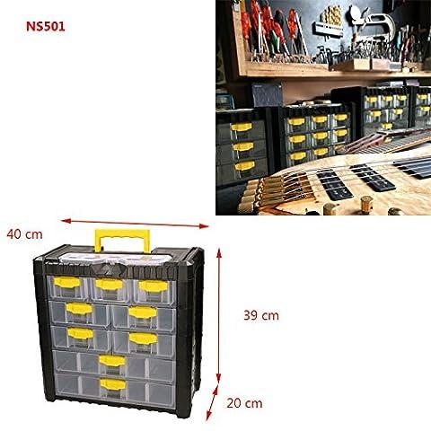 Werkzeugkasten Kleinteilemagazin Multicase Cargo 40x20x39cm Schubladen Kunststoff Werkzeugkoffer Werkzeugbox Werkzeugtrage Werkzeugkiste Sortimentskasten Sortimentskiste Kiste Box Kasten (Hinten Werkzeugkasten)