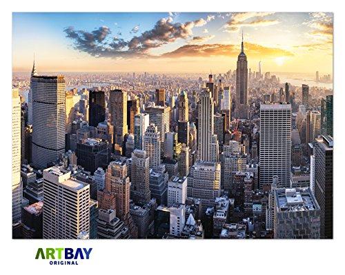 200 x 100 cm Bilder Leinwand New York auf Rahmen Wandbild Bild 6314