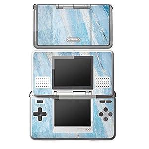 DeinDesign Skin kompatibel mit Nintendo DS Aufkleber Sticker Folie Marmor Blau Marble Marmoriert