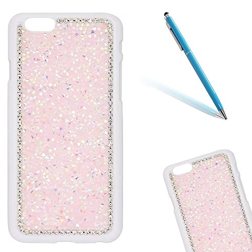 "iPhone 6sPlus Hülle, iPhone 6Plus Kristall Motiv Handytasche, Bling Glitzer Diamant Series CLTPY 3D Kreativ Überzug Hartplastik Schutzfall für 5.5"" Apple iPhone 6Plus/6sPlus (Nicht iPhone 6/6s) + 1 x  Rosa"