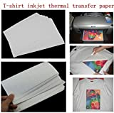 #2: TOTAL HOME: 5Pcs Hot Good Quality T-Shirt A4 Iron-On Inkjet Heat Transfer Paper For Fabrics Cloth New (Color: White)