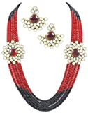 Leena Kundan Necklace Set at amazon