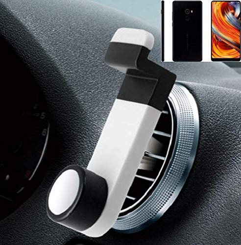 Smartphone universal Holder Holder / Car montaje / parabrisas para el Xiaomi Mi Mix 2. blanco. Titular de teléfono de la rejilla de ventilación se puede utilizar con los teléfonos inteligentes y