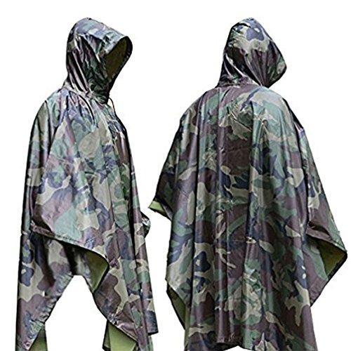 Regenponcho Regenmantel mit Kapuze Halloween Karneval Kostüm wasserdicht  Poncho für Camping Cape Outdoor Jagd Militär ...