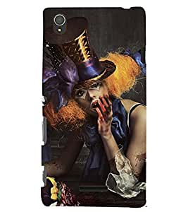 Printvisa Vampire Girl Picture Back Case Cover for Sony Xperia T3