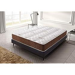 Living Sofa Matelas 140x190 cm Visco Ergo Anatomique - Épaisseur 19 cm - Double Face réversible - Mousse H.R - Système Triple Couche - 7 Zones de Confort - Indépendance de Couchage