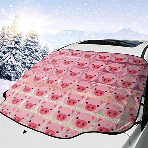 Kejbr Pig Face Front Car Sonnenschutz Frontscheibe Foldable UV Car Front Window Sonnenschutz Sun Shade for Most Sedans SUV Truck - Auto Sun Shade Visor Shield Cover, Keeps Vehicle Cool