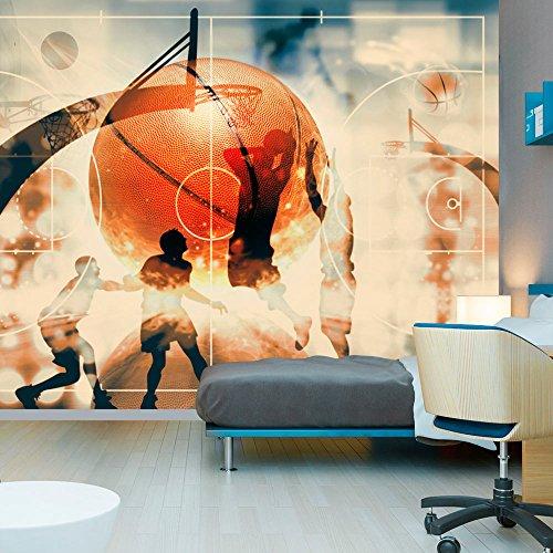 murando - Fototapete 250x175 cm - Vlies Tapete - Moderne Wanddeko - Design Tapete - Wandtapete - Wand Dekoration - Sport Basketball i-C-0001-a-d
