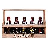 Pack Degustación de 5 Cervezas Artesanas Españolas con caja regalo de presentación en madera – Cerveza de Cereza, Castaña, Ibérica de Bellota, Pilsen y Andares
