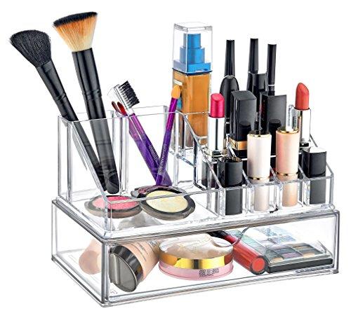 Furany 2er Set Kosmetik Organizer + Schubladen Organizer für Accessoires Make-Up Schminke Aufbewahrung