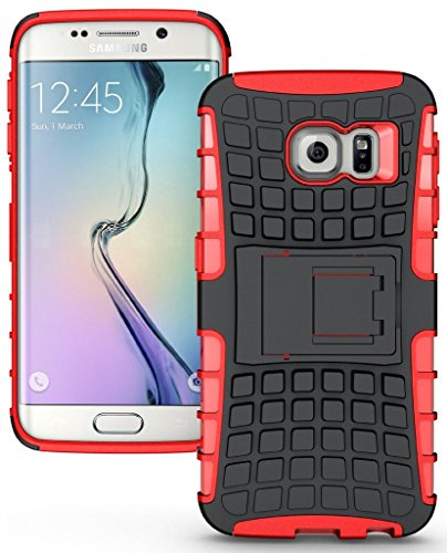 Plus Flip Kick Stand Spider Hard Dual Rugged Armor Hybrid Bumper Back Case Cover For Samsung Galaxy S7 – Hot Red