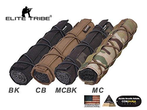 Funda para silenciador de Airsoft con diseño estratégico militar o de caza, 22 cm, Multicam Black