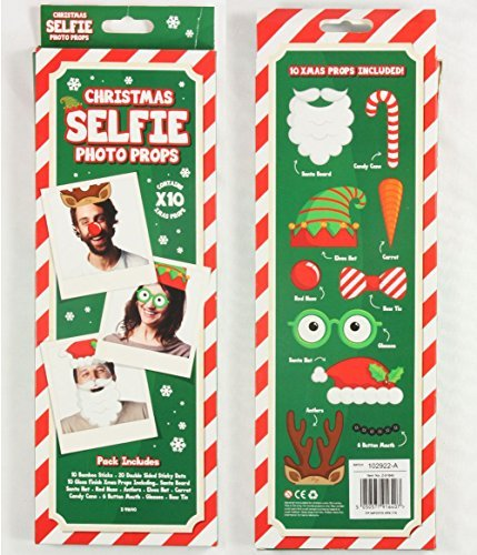 ITP 1 x Pack of 10 Christmas Selfie Photo Photobooth Dress Up Props Xmas