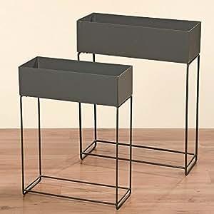 2 blumenk sten pflanzk sten pflanzkasten blumenkasten hochbeet balkonkasten grau garten. Black Bedroom Furniture Sets. Home Design Ideas