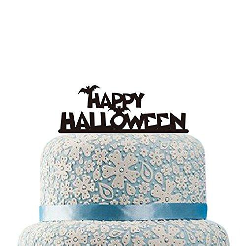 gâteaux en acrylique Halloween chauve-souris pour gâteaux Décorations de fête d'Halloween fête d'Halloween Fournitures gâteau Décor ()