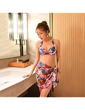 ZHANGYONG*Piccole particelle di petto bikini Bikini Modello 3 Pezzo Grand Prix sexy di filo di acciaio e video...