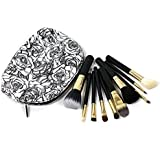 RoseFlower®-10-Pcs-Professional-Cosmetic-Makeup-Brushes-Set-Essential-Make-Up-Tools-Kit-for-Professional-as-well-as-Personal-Use