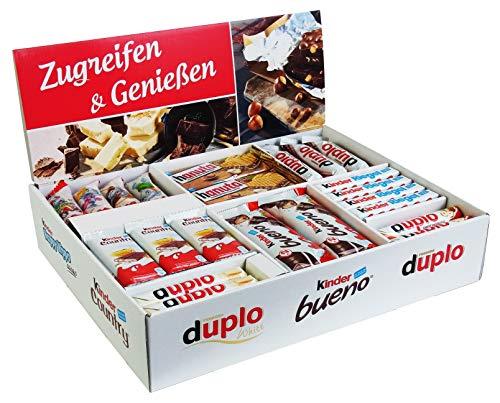 x mit 78 Riegeln in 8 Sorten, mit Kinder Bueno, Kinder Country, Kinder Riegel, Duplo und Hanuta, 1er Pack (1 x 2kg) ()