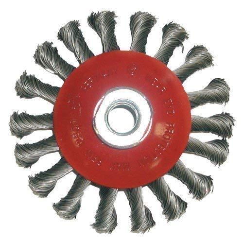 Brosse ronde m14 x 100 x 0,5 mm/45°, cône gezopfter acier pour meuleuse d'angle