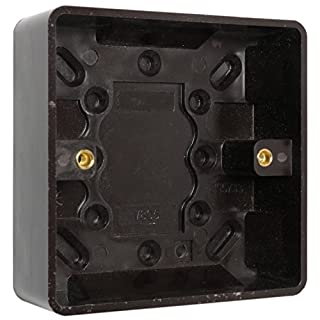 Brown Bakelite Switch/Socket Surface Mount Pattress 1Gang by Art Deco Emporium