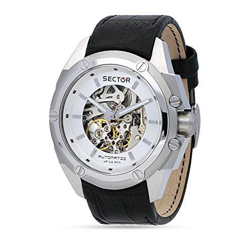 Sector Herren Analog Automatik Uhr mit Leder Armband R3221581002