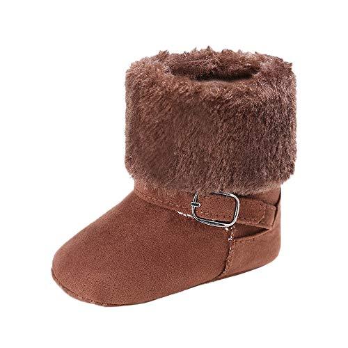 (LEXUPE Baby Schuhe MäDchen Weiche Booties Schnee Feste Kaschmir Stiefel Kleinkind Warme Schuhe)