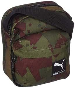 Puma Messenger Bag, Unisex, Schultertasche Foundation Portable, Dark Olive-Camo, One Size