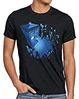 style3 Who Notrufzelle T-Shirt Herren dalek who time police dr box space tv doctor