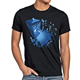 style3 Who Notrufzelle T-Shirt Herren dalek who time police dr box space tv doctor, Größe:XL