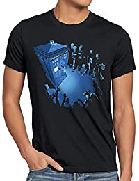 style3 Who Cabine T-Shirt Homme dalek who time police dr box space tv doctor