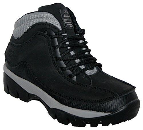 Groundwork Damen Arbeit Stiefel Stahlkappe Stiefel Boots Leder Oberteil GR386von, Schwarz - schwarz - Größe:39 EU Black Steel Toe Work Boot