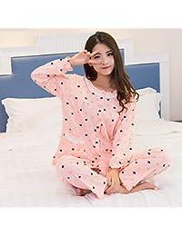 d65487a0a7 HAOLIEQUAN Pijamas Ropa De Noche De Seda De Satén para Mujeres Pijama De 2  Piezas Conjuntos