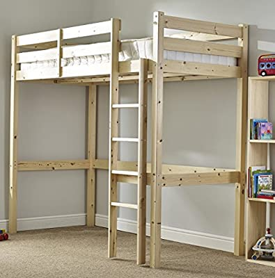 Loft Bunk Bed - Heavy Duty 3ft single wooden high sleeper bunkbed - CAN BE USED BY ADULTS produced by Strictlybedsandbunks - quick delivery from UK.