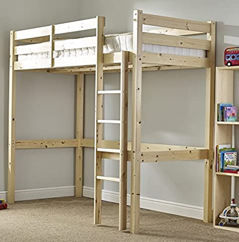 Loft Bunk Bed with sprung mattress - Heavy Duty 3ft