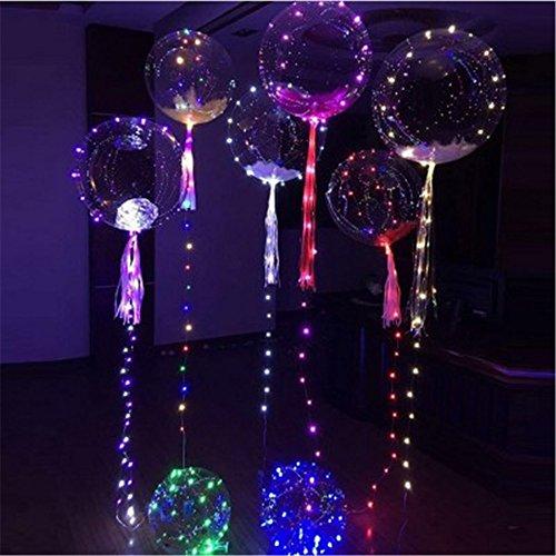 10 Stücke 18 Zoll Leucht Led Ballon 3 Mt 30 Kopf Luftballon Runde Blase Heliumballons Kinder Spielzeug Hochzeit Bar Hof Dekoration Business-Geschenk