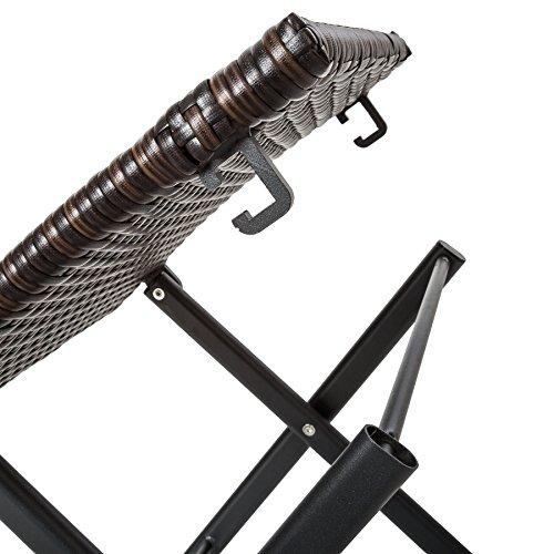 TecTake Aluminium Poly Rattan Gartenmöbel | Braun | -verschiedene Modelle- (Typ 1 | no. 402216) - 2