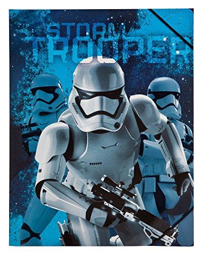 Undercover SWMK7293 Kindergartentasche, Star Wars, ca. 21 x 22 x 8 cm Gummizugmappe A4