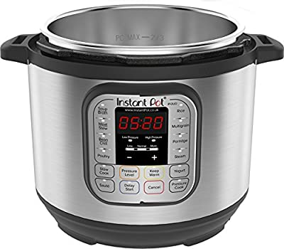 Instant Pot Duo 7-in-1 Electric Pressure Cooker, Brushed Stainless Steel/Black