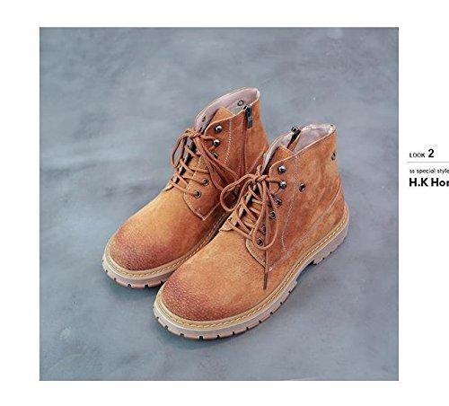 HL-PYL-la versione coreana di scarpe di cuoio, la breve stivali, il nuovo Martin stivali Camel