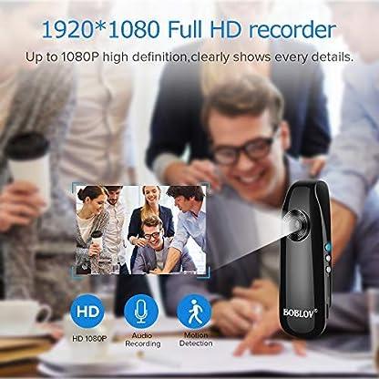 BOBLOV-Mini-Kamera-1080P-Full-HD-Dash-Cam-Camcorder-Fr-PolizeiMotorradFahrradSport