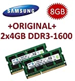 Samsung 8GB Dual Channel Kit 2 x 4 GB 204 pin DDR3-1600 SO-DIMM