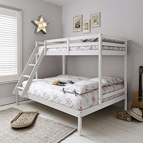 Triple Bed Bunk Bed Kent in White Noa u0026 Nani & White Triple Bunk Bed: Amazon.co.uk